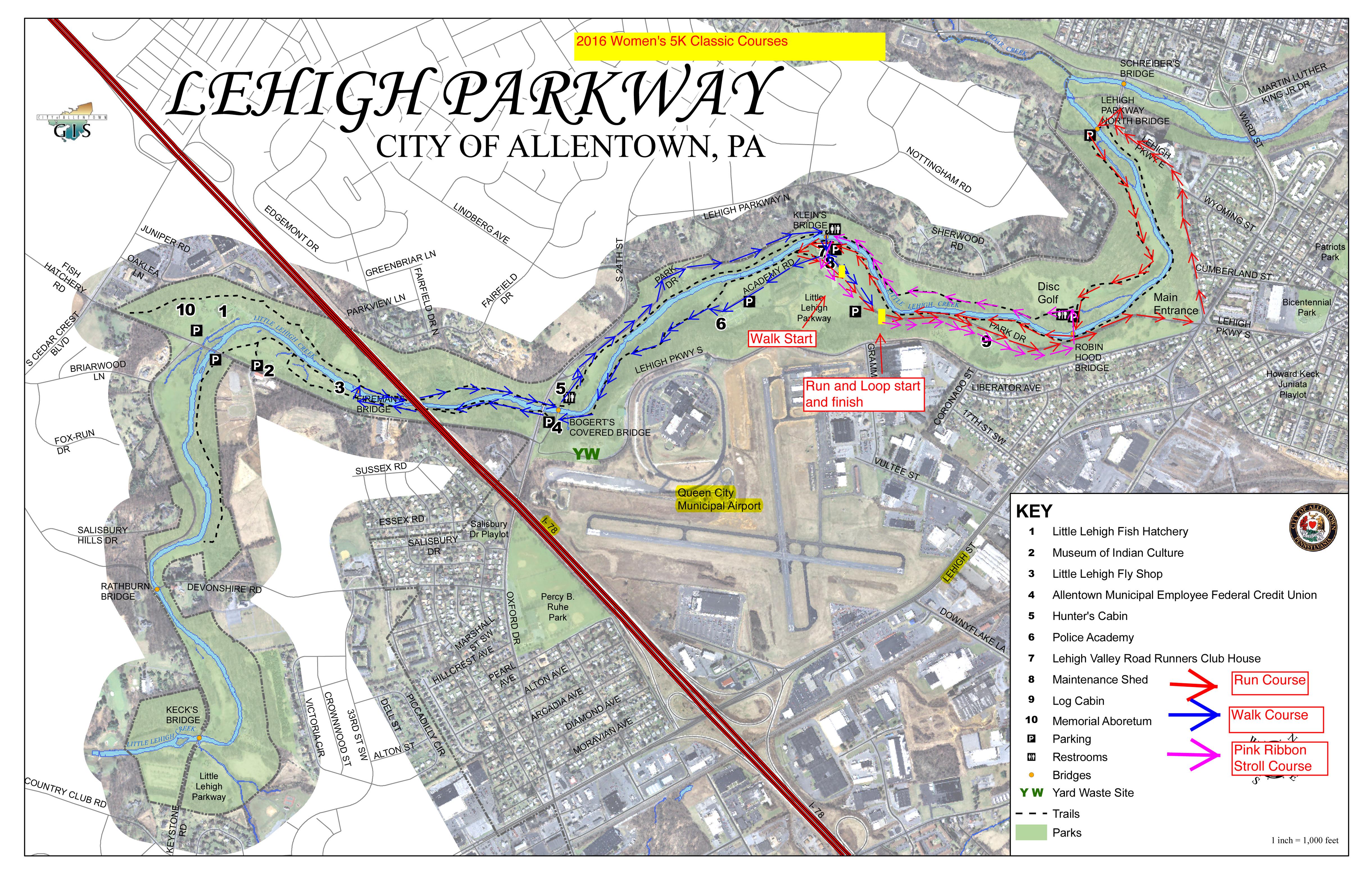 Lehighpkwy Map 1 Copy Women S 5k Classic